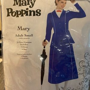Mary Poppins adult small costume